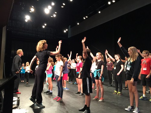 Mark Harapiak and Blythe Wilson teaching Youth Musical Theatre Program s...