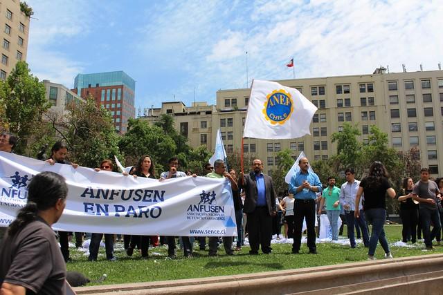ANFUSEN protesta por despidos en SENCE (30-11-2018)