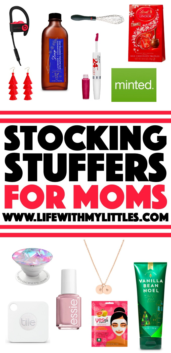 Looking for some stocking stuffers for moms? Not sure what to put in your wife's stocking? Filling your own? Here are 31 festive and fabulous ideas!