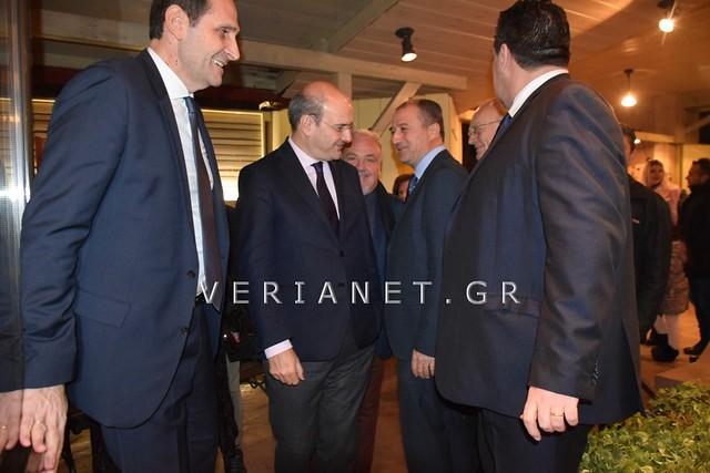 Βέροια: Ο Αντιπρόεδρος της Ν.Δ. Κωστής Χατζηδάκης στην κοπή της πίτας από τη ΝΟΔΕ Ημαθίας