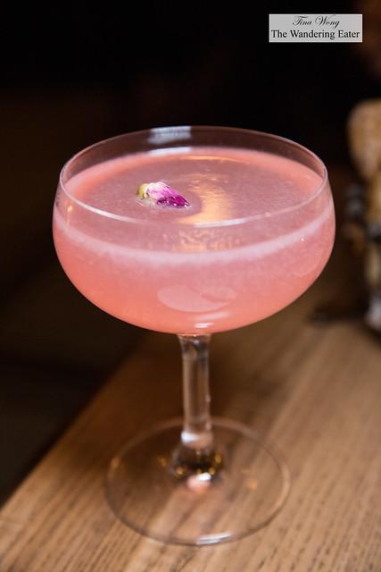 Amelié - Grey Goose vodka, maraschino, rosé brut, pomegranate, lime & rose water