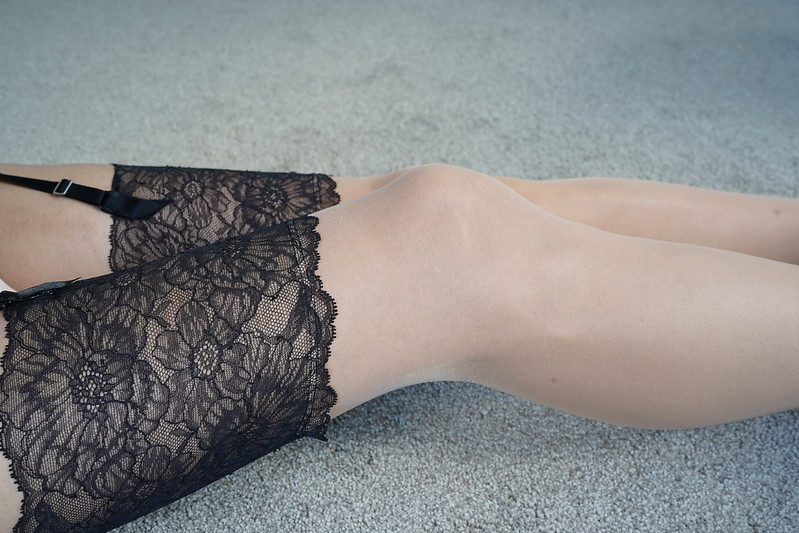 Wolford Lace Belt and Stockings 17