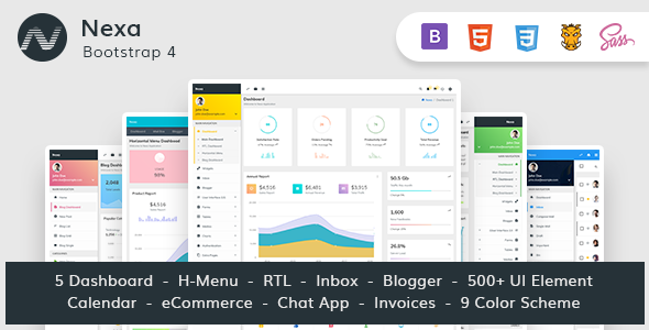 Nexa - Bootstrap4 Material Design Premium Admin Dashboard