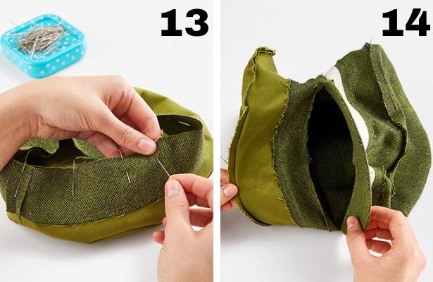 DIY Captains Hat Steps 13 14