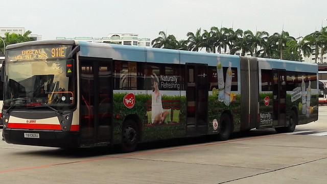 TIB1063U on SMRT Intratown Bus Service 911e