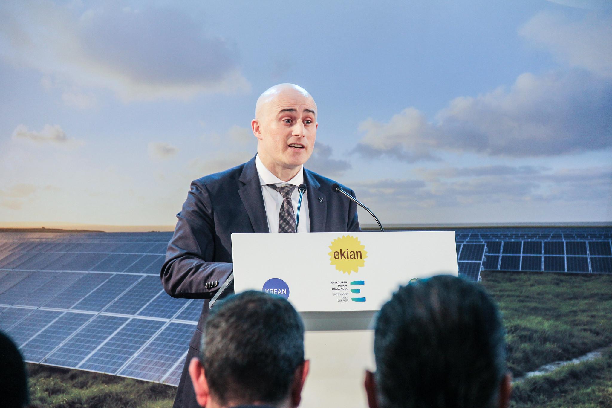 KREAN y EVE presentan EKIAN, el mayor parque de energía solar de Euskadi