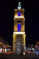 Old Jaffa Clock Tower at Night - Tel Aviv Israel