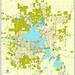 Madison PDF map, Wisconsin, US, printable vector street City Plan map, fully editable, Adobe PDF, V3.10