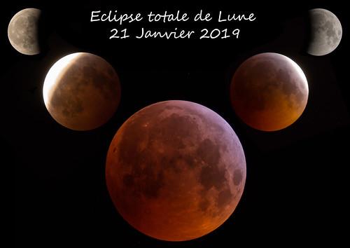 Eclipse totale de Lune du 21 Janvier 2019