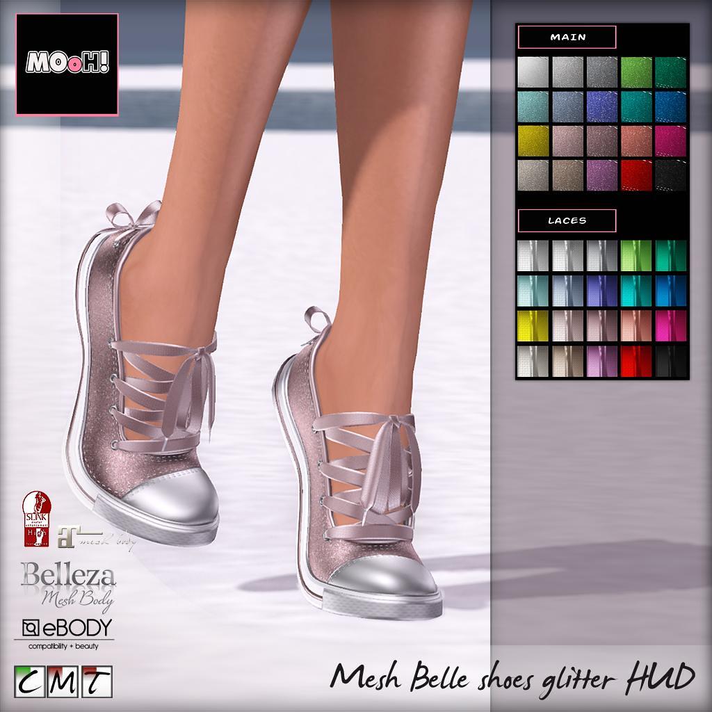 Belle shoes glitter HUD