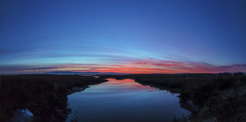 canon5dsr landscape water pond reflection sky blue dawn sunrise outdoors nature california usa