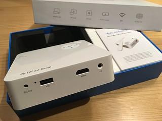 EZCast Beam 開箱 06 - 供電 + USB + HDMI + 耳機