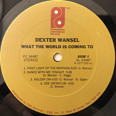 DEXTER WANSEL:WHAT THE WORLD IS COMING TO(LABEL SIDE-A)
