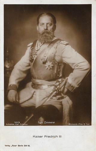 Toni Zimmerer as Kaiser Friedrich III in Bismarck-Film, part II