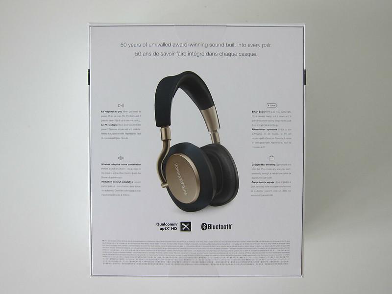 Bowers & Wilkins PX Headphones - Box Back