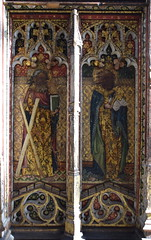 rood screen (north): St Andrew and St Peter (15th Century)
