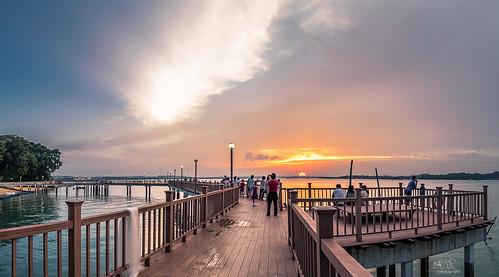 Sunset - Changi Boardwalk Singapore