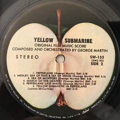 THE BEATLES:YELLOW SUBMARINE(LABEL SIDE-B)