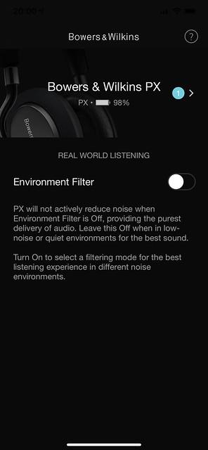 Bowers & Wilkins Headphones iOS App - Setup Done