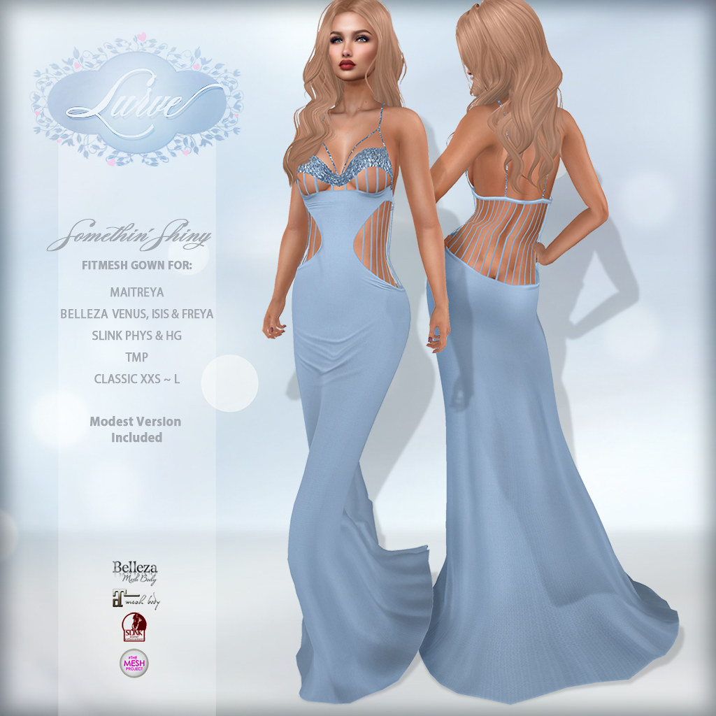 *Lurve* Somethin' Shiny Gown in Sky Blue