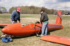 Schwiezer Glider at Ionia Airfield Michigan 1994
