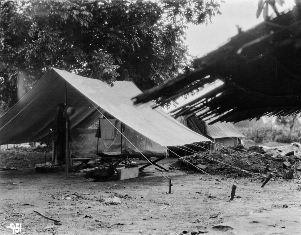 Катаба. Экспедиционный лагерь с палатками
