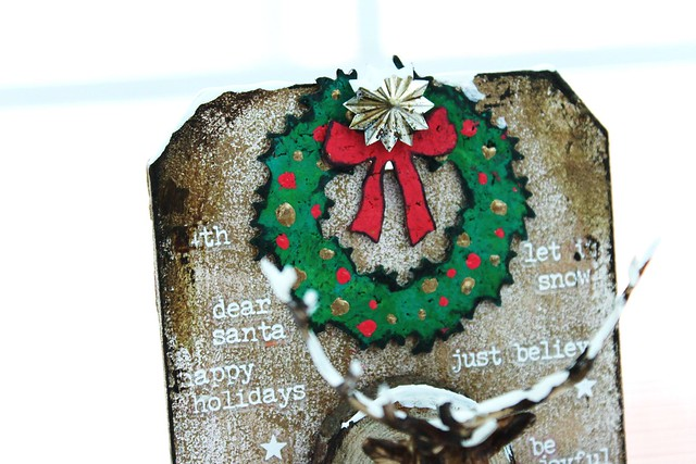 Meihsia Liu Simply Paper Crafts Mixed Media Tag Gift It Christmas Decor Simon Says Stamp Tim Holtz 3