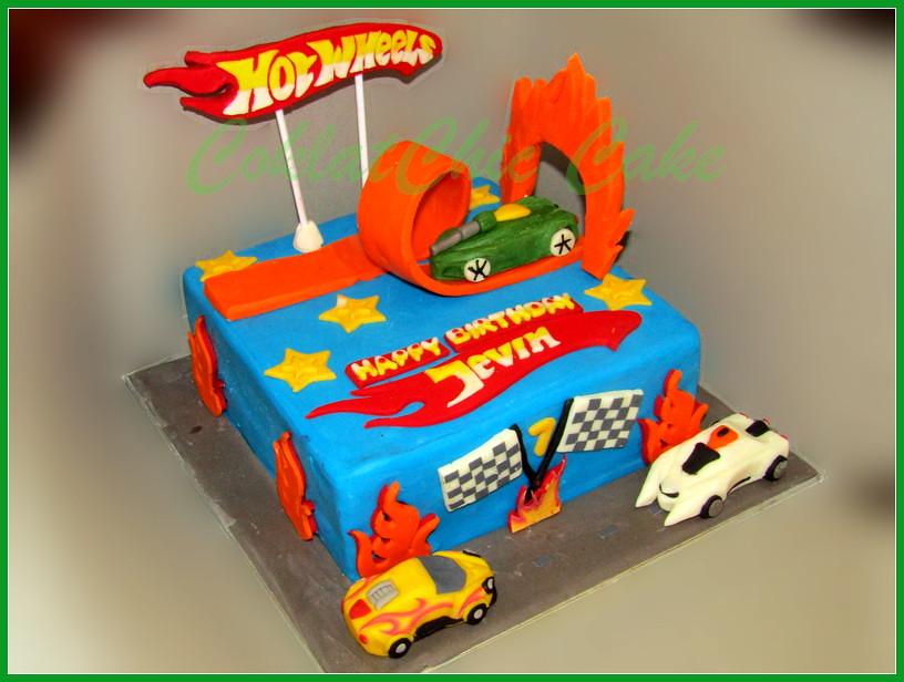 Cake HotWheels JEVIN 20 cm