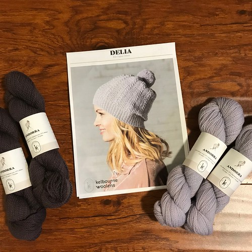 What 2 skeins of Kelbourne Woolens Andorra would you choose for the Delia Hat??