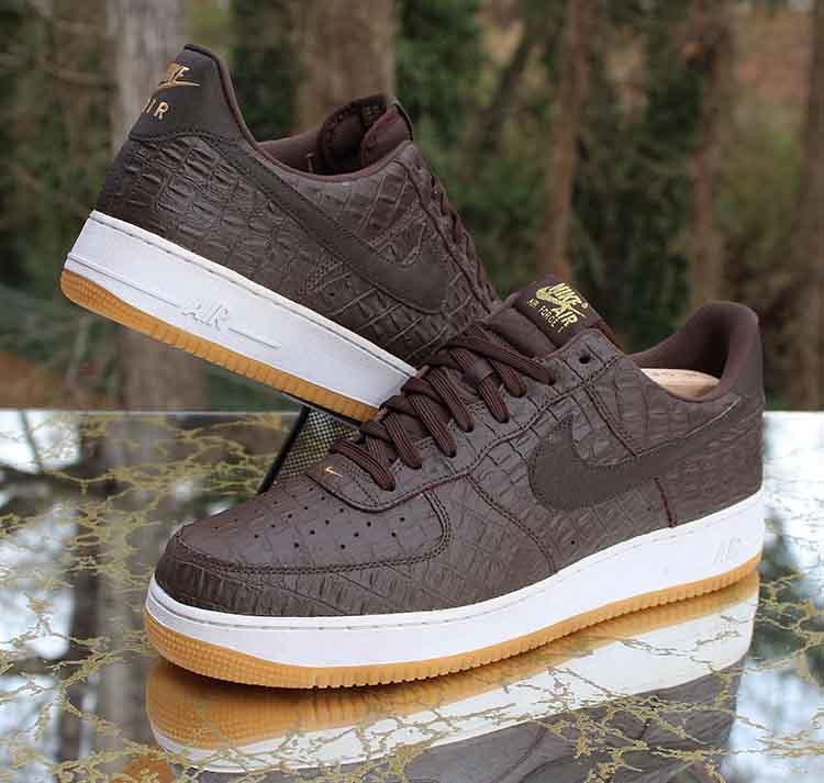 lowest price 5635a 319fb Nike Air Force 1  07 LV8 Low Brown Crocodile 718152-200 Me…   Flickr