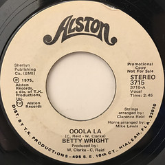 BETTY WRIGHT:OOOLA LA(LABEL SIDE-A)