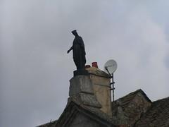 20080907 31810 1008 Jakobus La Chaze de Peyre Maria Statue Antenne - Photo of Prinsuéjols