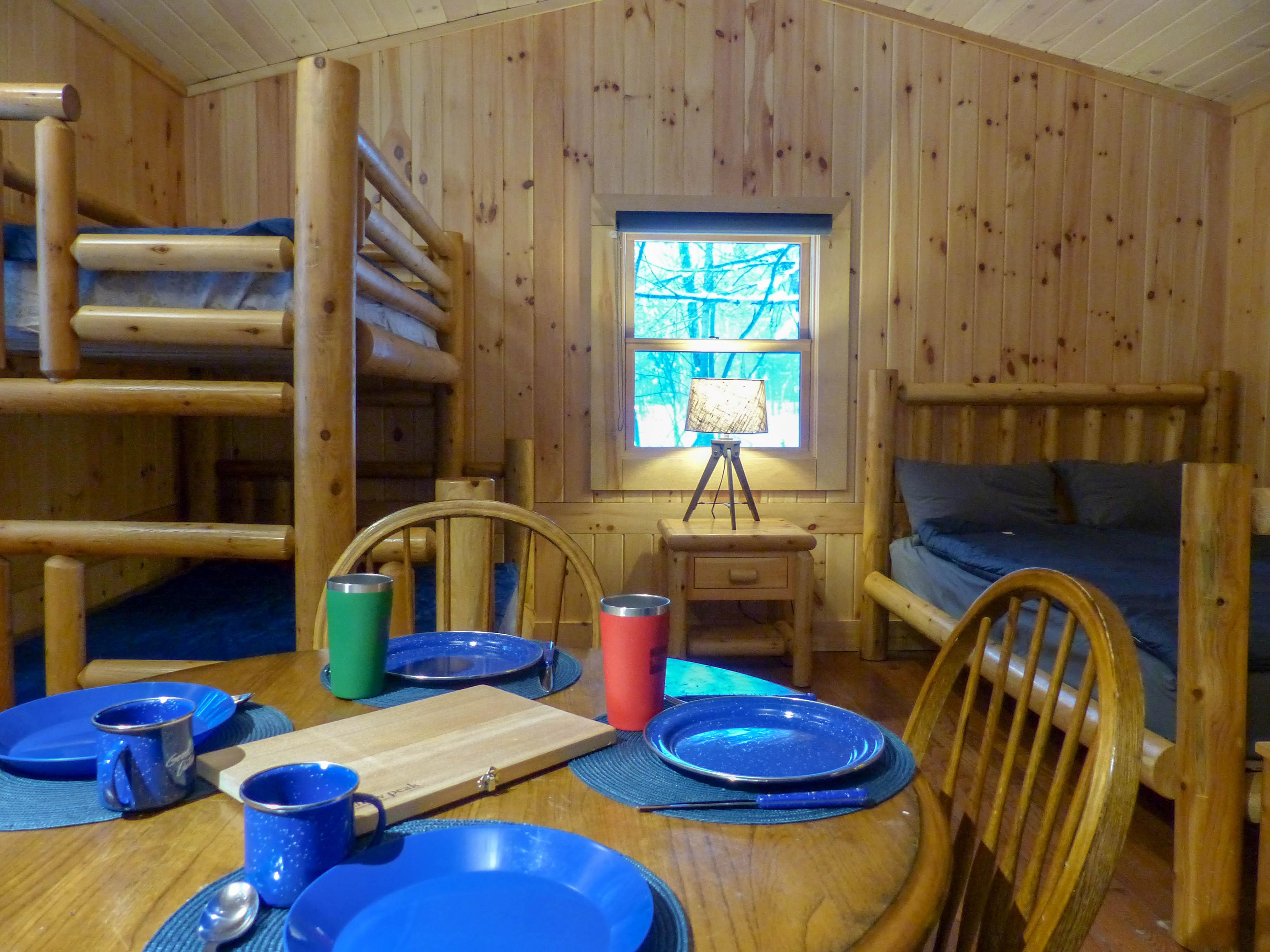 Arrowhead Provincial Park - inside a cabin