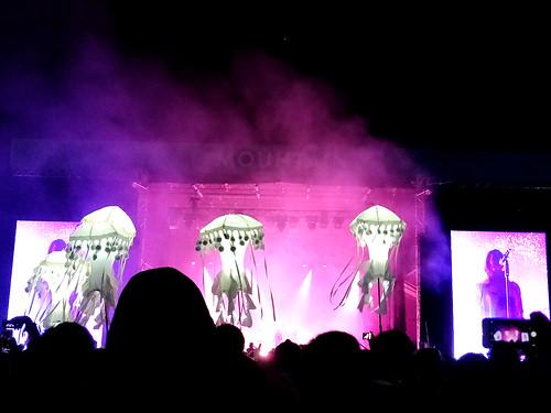 Skookum jellyfish at the Metric gig