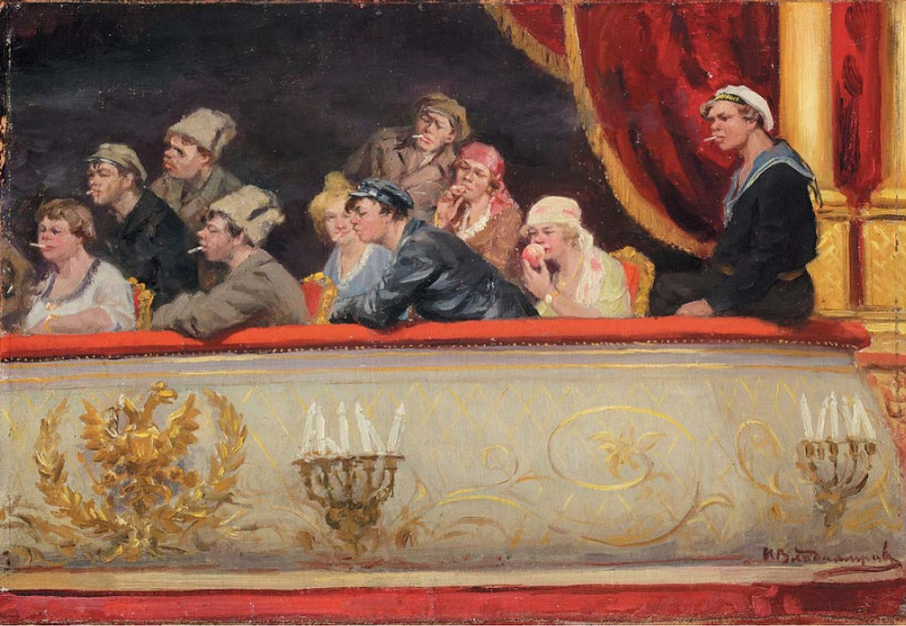 1918. В театре. Царская ложа