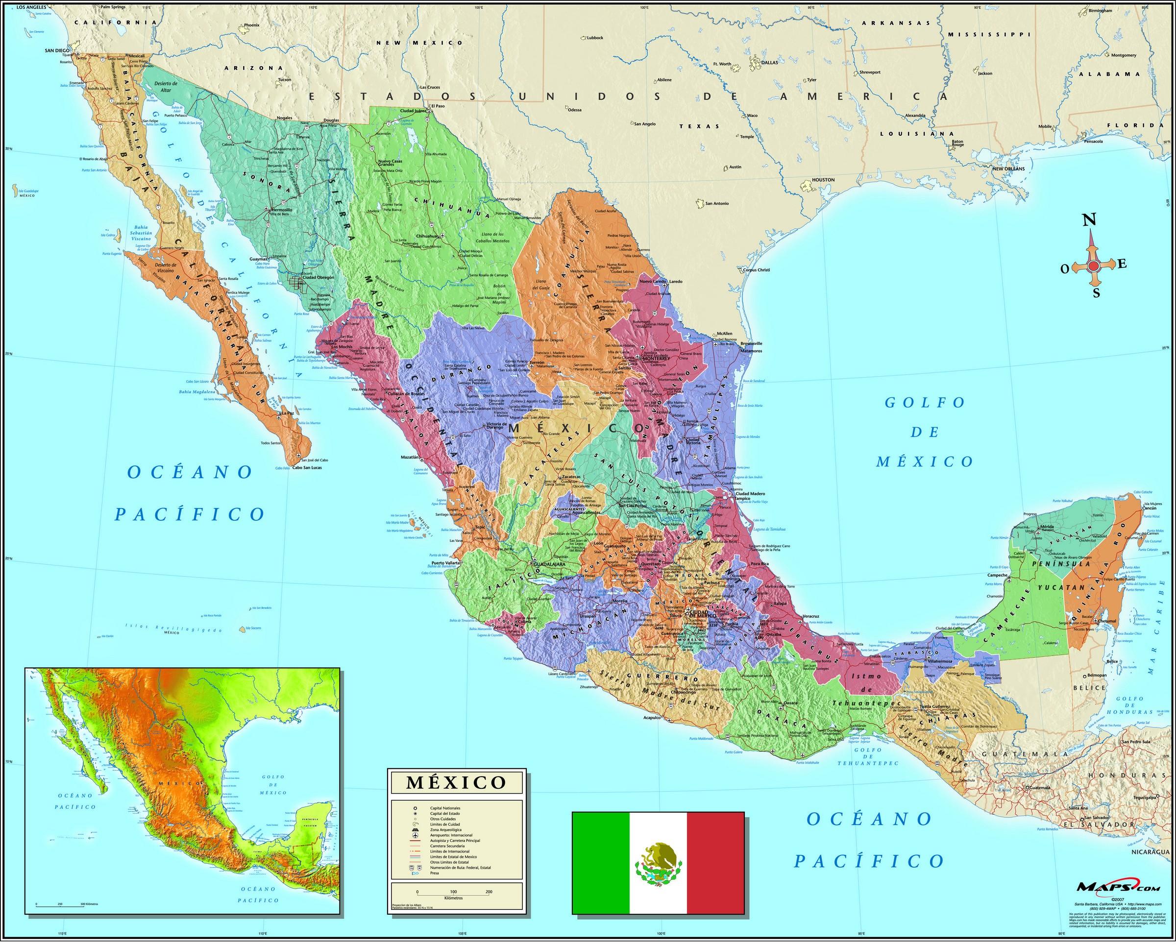 Map of México