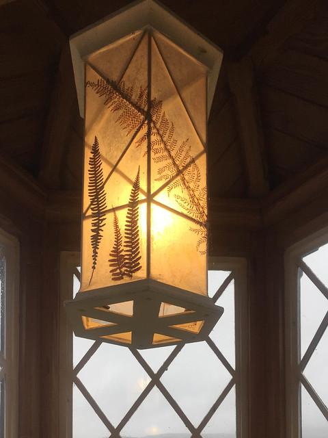 Lamp in Turret Window, Brantwood, Coniston, Cumbria