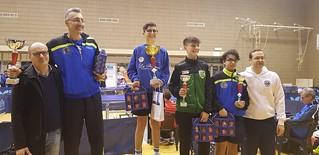 Il podio del Singolare Maschile di Sesta Categoria di Cerignola