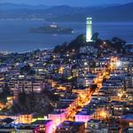 Coit Tower and Alcatraz