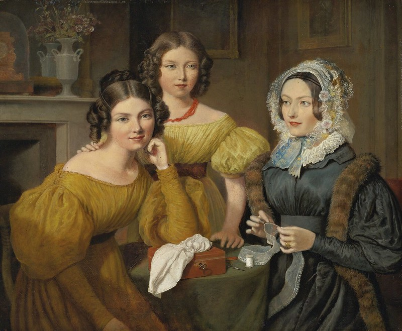 Jacques-Laurent Agasse - Madame Vieyres and her daughters