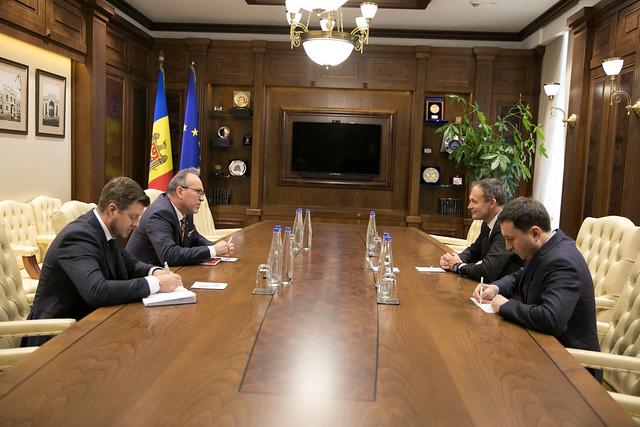 Întrevedere Andrian Candu cu Daniel Ioniță, Ambasadorul României în Republica Moldova