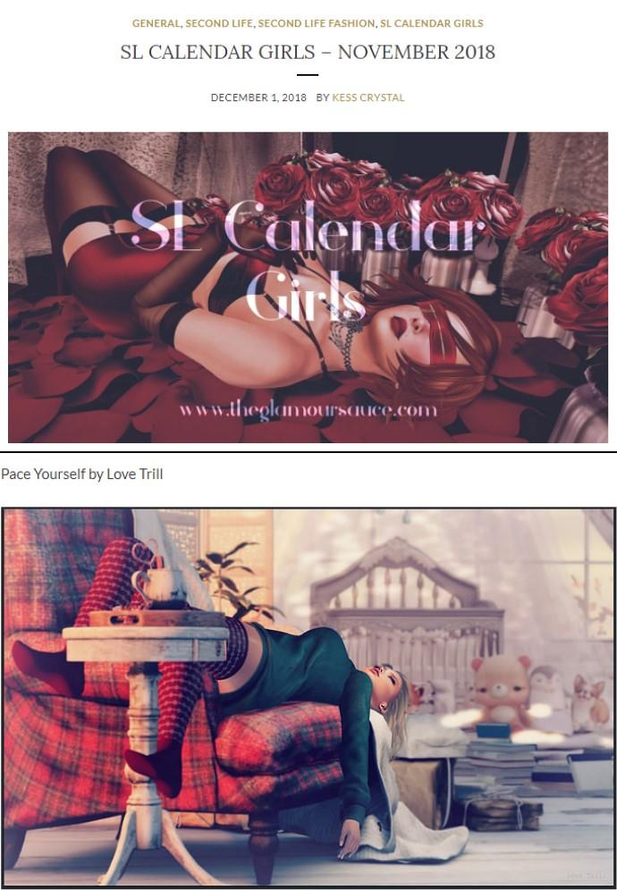 November Calendar Girl!