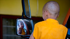 Reflection of a young monk