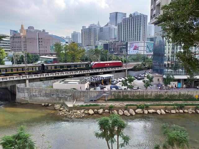 red train at Shenzhen