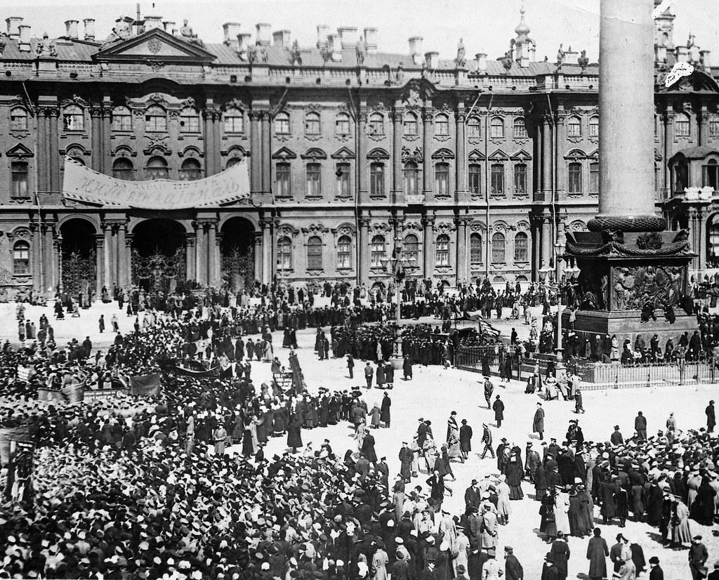 Митинг перед Зимним дворцом. 1 мая