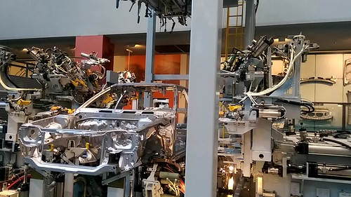 Robots taking apart a Toyota