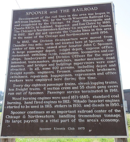 Spooner and the Railroad Marker (Spooner, Wisconsin)
