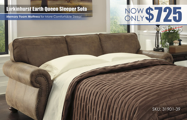 Larkinhurst Earth Queen Sleeper Sofa_31901-39