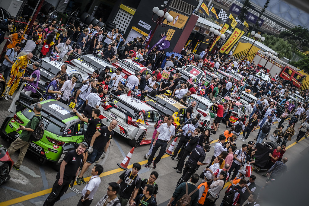 Pre Grid during the 2018 FIA WTCR World Touring Car cup of Macau, Circuito da Guia, from november  15 to 18 - Photo Francois Flamand / DPPI