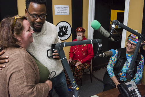 Leslie Cooper, Marcel McGee, Tommy and Patty at WWOZ's 38th birthday - 12.4.18. Photo by Ryan Hodgson-Rigsbee rhrphoto.com